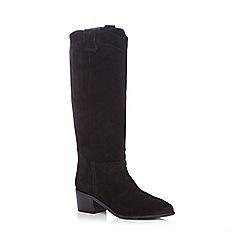 Faith - Black suede high leg boots