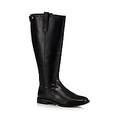 Faith - Black leather high leg boots