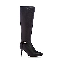 Faith - Black leatherette high platform boots