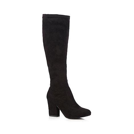 faith black knee high boots debenhams