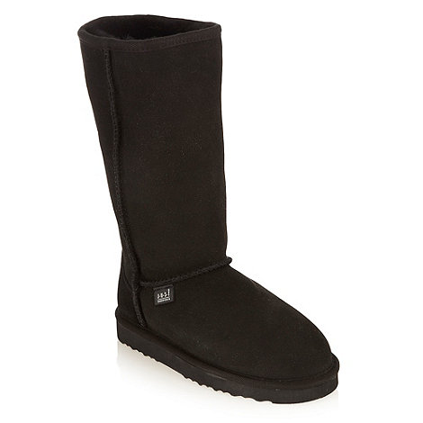 Just Sheepskin - Black tall sheepskin boots