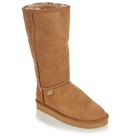 Just Sheepskin - Tan tall boots