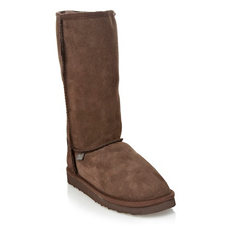 Just Sheepskin - Chocolate mid length sheepskin boots