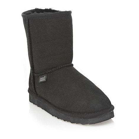 Just Sheepskin - Black ankle sheepskin boots