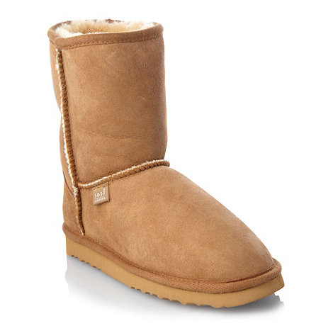 Just Sheepskin - Tan short boots