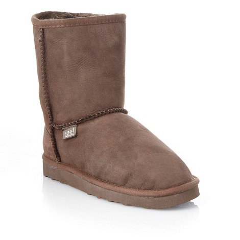 Just Sheepskin - Brown sheepskin ankle boots