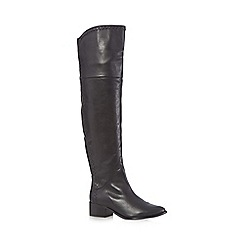 Faith - Black 'Nash' over the knee boots