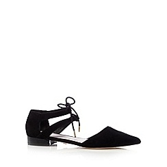 Faith - Black suede pointed toe low sandals