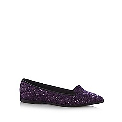 Faith - Plum glittery pointed toe pumps