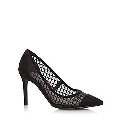 Faith - Black checked mesh high court shoes