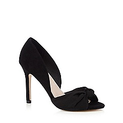 Faith - Black peep toe bow court shoes