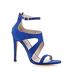 Faith - Blue suedette high heeled sandals