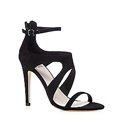 Faith - Black strappy high heeled sandals