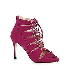 Faith - Bright pink suede high stiletto sandals