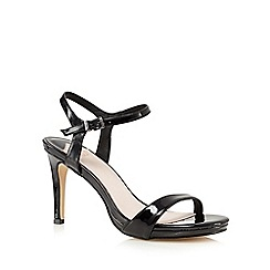 Faith - Black patent high heeled sandals