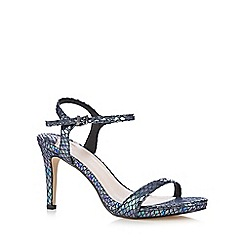 Faith - Metallic snakeskin-effect high heeled sandals