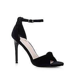 Faith - Black velvet high heeled sandals