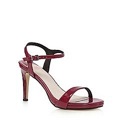 Faith - Dark purple patent high sandals