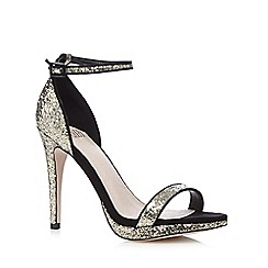 Faith - Gold sequin open toe high sandals