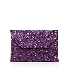 Faith - Purple glitter envelope clutch bag