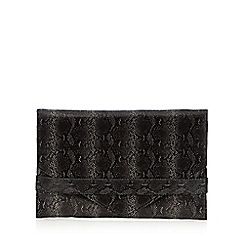 Faith - Black snakeskin envelope cross body bag