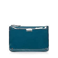 Faith - Dark turquoise patent clutch bag