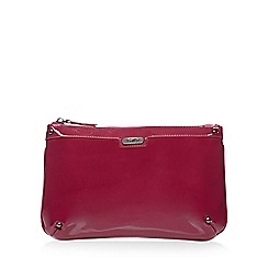 Faith - Plum patent clutch bag