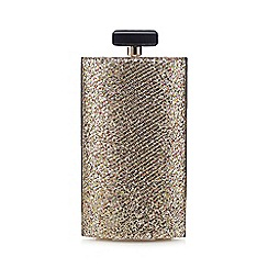 Faith - Gold sequin clutch bag