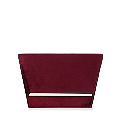 Faith - Purple velvet clutch