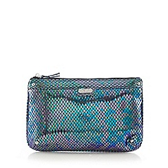 Faith - Metallic snakeskin clutch bag