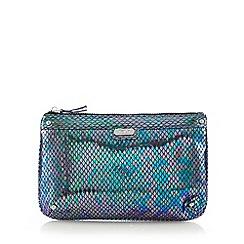 Faith - Metallic snakeskin clutch bag