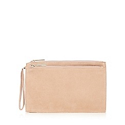 Faith - Natural double zip clutch bag