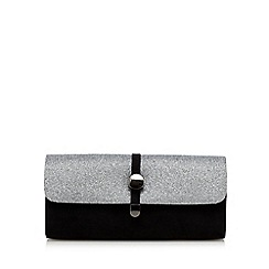 Faith - Black glittery clutch bag