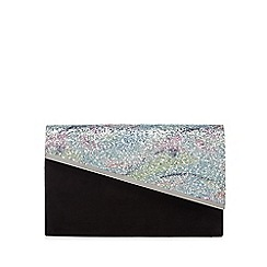Faith - Black sequin asymmetric clutch bag