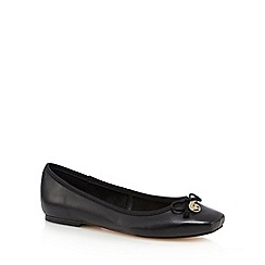 Faith - Black 'Austin' leather slip on shoes