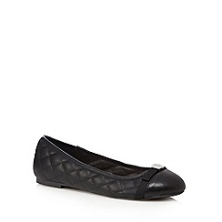 Faith - Black quilted slip-on shoes