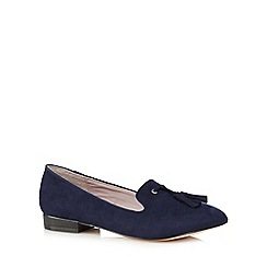 Faith - Navy tassel slip on shoes