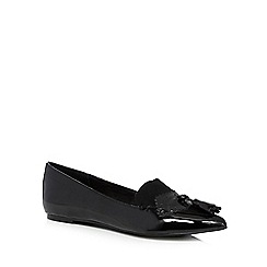 Faith - Black patent slip on shoes