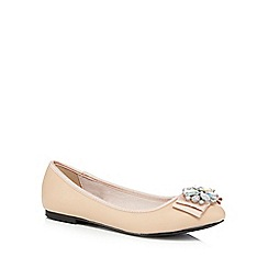 Faith - Light pink jewel embellished pumps