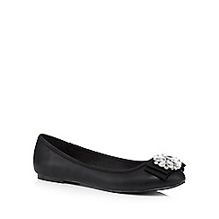 Faith - Black jewel embellished pumps