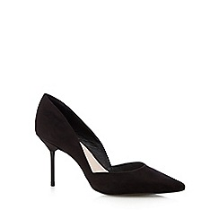 Faith - Black suedette mid court shoes