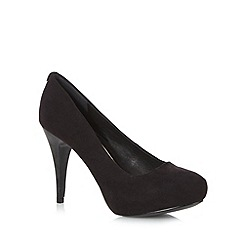 Faith - Black suedette court shoes
