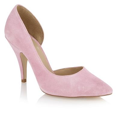 light pink asymmetric pointed toe court shoes debenhams