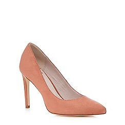 Faith - Rose pink 'Carey' heeled court shoes