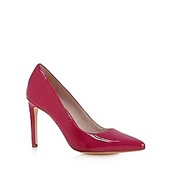 Faith - Bright pink patent high stiletto court shoes
