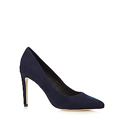 Faith - Navy high stiletto court shoes
