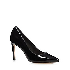 Faith - Black patent high stiletto court shoes