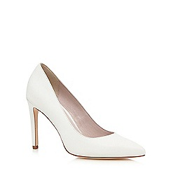 Faith - White 'Carey' stiletto court shoes