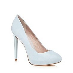 Faith - Light blue 'Cadles' suedette court shoes