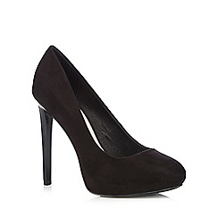Faith - Black slim heel court heels